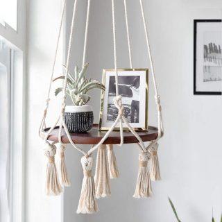 Hanging-Shelf-Macrame-Plant-Hanger-Flower-Pot-Holder-Boho-Home-Decor-With-Wood-Plate.jpg